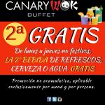 2ª BEBIDA GRATIS EN CANARYWOK